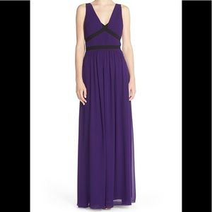 BCBG Max Azria Aurica Pleated Georgette Gown